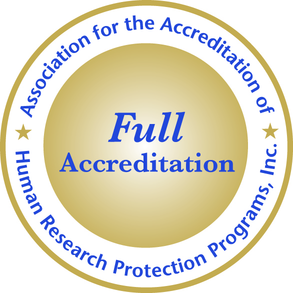 Association for the Accreditation of Human Research Protection Programs, Inc. Seal